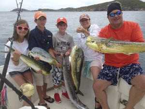At Fishwhistle Sportfishing, the whole family catches fish.